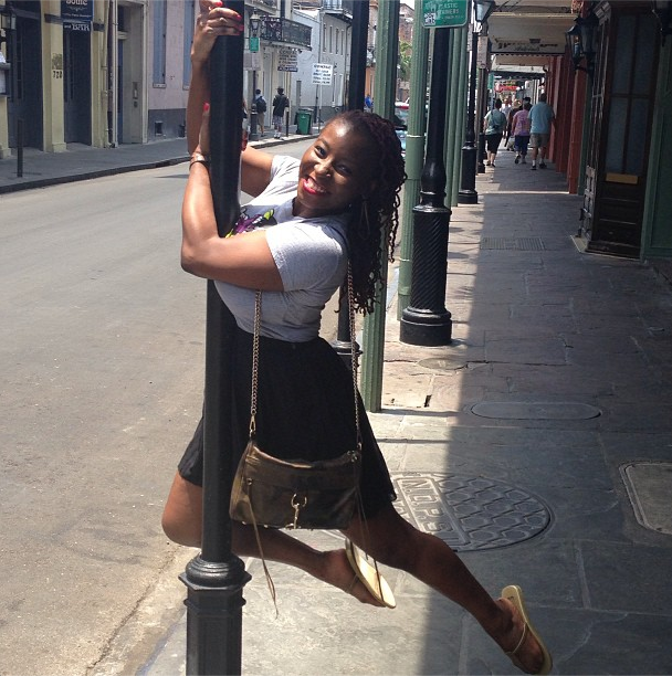 My first attempt at street pole in New Orleans, summer 2013.